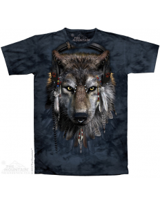 Pánská trička se zvířecím potiskem (the mountain) DJ Wolf