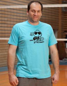 Pánské sportovní tričko Volejbal – King of the court