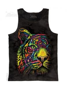 Pánské tílko se zvířecím potiskem (the mountain) Rainbow Tiger