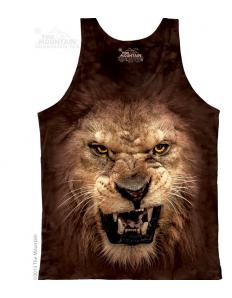 Pánské tílko se zvířecím potiskem (the mountain) Roaring lion