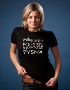 Dámské sportovní tričko Policie – Miluji svého policistu