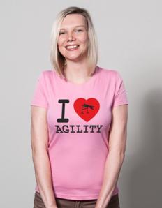 Dámské sportovní tričko Pejskaři – I love agility