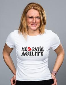 Dámské sportovní tričko Pejskaři – Mé srdce patří agility