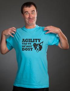Pánské sportovní tričko Pejskař – Agility baví