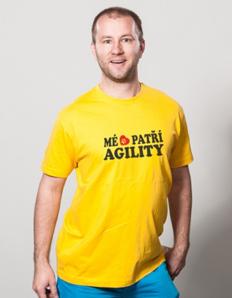 Pánské sportovní tričko Pejskař – Mé srdce patří agility