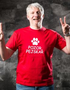 Pánské sportovní tričko Pejskař - Pozor pejskař