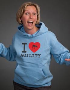 Sportovní mikina s potiskem Pejskař – I love agility