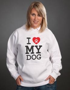 Sportovní mikina s potiskem Pejskař – I love my dog