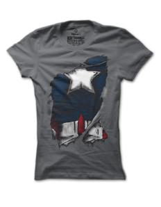 Dámské tričko s potiskem Captain America inside