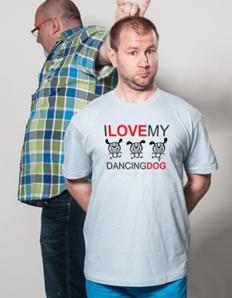 Pánské sportovní tričko Pejskař - Dancing dog