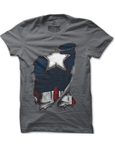Pánské tričko s potiskem Captain America Inside