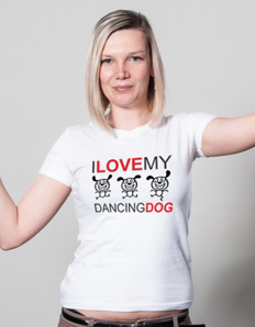 Dámské sportovní tričko Pejskaři – Dancing dog