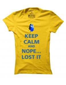 Dámské tričko s potiskem Keep calm Dory