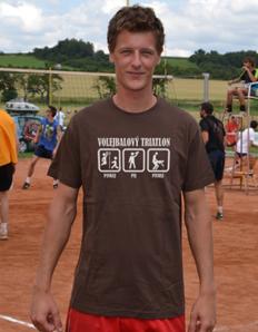 Pánské sportovní tričko Volejbal – Volejbal triatlon