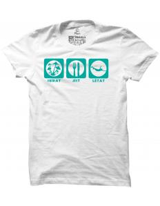 Pánské tričko s potiskem Sbírat, jíst, létat