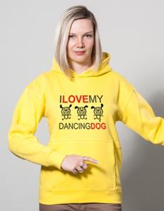 Sportovní mikina s potiskem Pejskař – Dancing dog