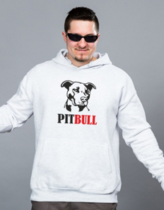 Sportovní mikina s potiskem Pejskař - Pitbull black