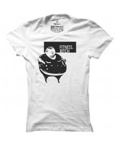 Dámské tričko s potiskem Fitness bitch