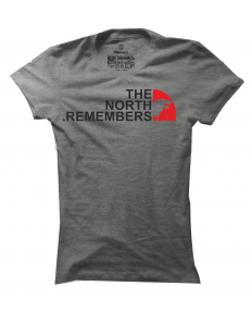 Dámské tričko s potiskem The north remembers