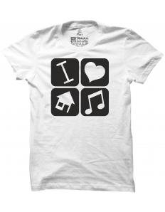 Pánské tričko s potiskem I love house music