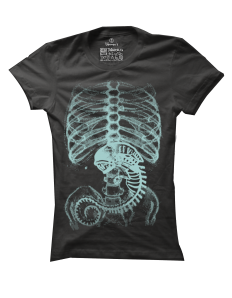 Dámské tričko s potiskem Alien inside