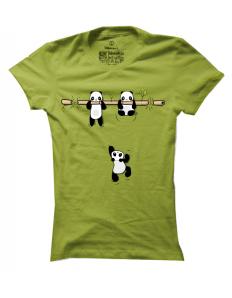Dámské tričko s potiskem Pandy