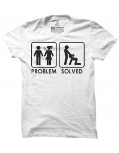 Pánské tričko s potiskem Problem solved