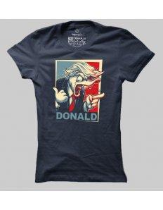 Dámské tričko s potiskem Kačer Trump