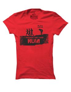 Dámské tričko s potiskem Rum