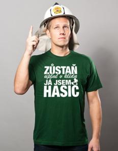 Pánské sportovní tričko Hasičské - Klid jsem hasič