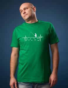 Pánské sportovní tričko Rybářské - Rybářský puls