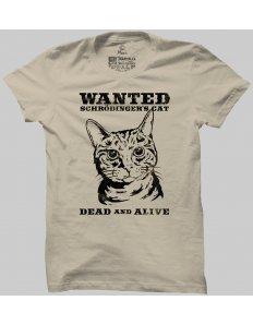 Pánské tričko s potiskem Schrödingerova kočka