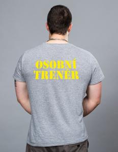 Pánské sportovní tričko Fitness – Osobní trenér