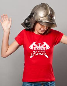 Dámské sportovní tričko Hasičská máma