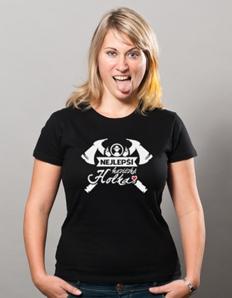 Dámské sportovní tričko Nej hasičská holka