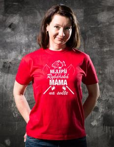 Dámské sportovní tričko Rybářské – Rybářská máma
