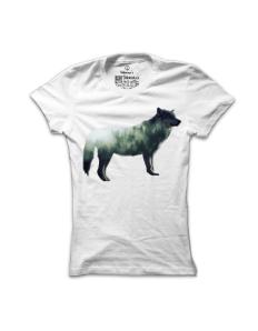 Dámské tričko s potiskem Vlk