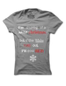 Dámské tričko s potiskem WineXmas