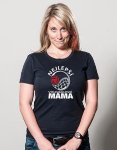 Dámské sportovní tričko Volejbal máma