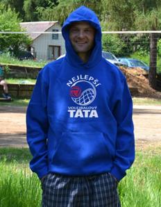 Sportovní mikina s potiskem Volejbal – Volejbal táta