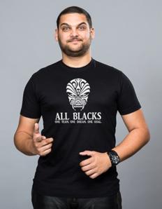 Pánské sportovní tričko Rugby - All Blacks team