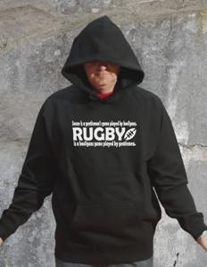 Sportovní mikina s potiskem Rugby game