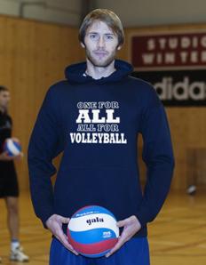 Sportovní mikina s potiskem Volejbal - All volleyball