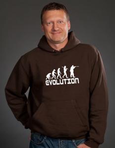 Sportovní mikina s potiskem Myslivec evoluce