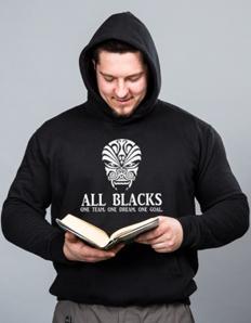 Sportovní mikina s potiskem Rugby - All Blacks team