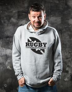 Sportovní mikina s potiskem Rugby gentlemen