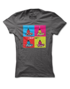 Dámské tričko s potiskem Mop Art