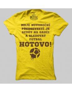 Dámské tričko s potiskem Fotbal