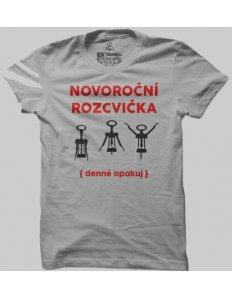 Pánské tričko s potiskem Vinná rozcvička
