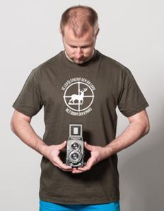 Pánské sportovní tričko Myslivec na lovu